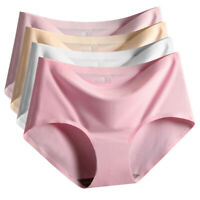 Soft Women Sexy Invisible Ice Silk Seamless Soft Underwear Knickers Underpant