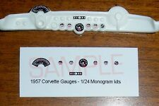 1957 CORVETTE GAUGE FACES for 1/24 scale MONOGRAM KITS