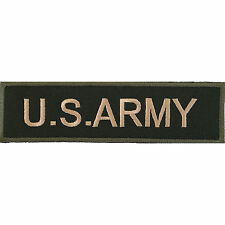 US Army Embroidered Iron / Sew on Patch United States Bag Jacket Military Badge