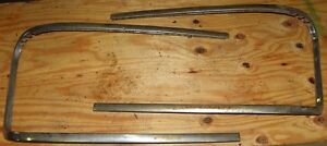 1958 1959 FORD RANCH WAGON TAIL GATE WINDOW STAINLESS CHROME TRIM
