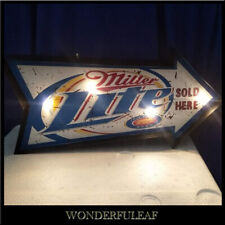 LITE MILLER Sign Beer Bar Pub Restaurant Decor Metal Marquee Retro Sign Light