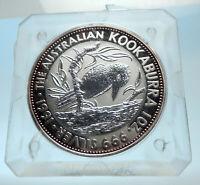 1991 AUSTRALIA Kookaburra Bird Tree 1 oz Silver 5 Dollar Australian Coin i77560