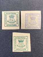 1872-77 Spain ,Newspaper Stamps,Lot of 3