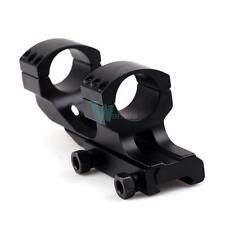 "Tactical PEPR 1"" Cantilever Flat Top Rifle Scope Mount Dual Rings Picatiiny Rail"