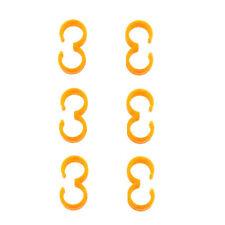 Nitro Fuel Line Clips for Silicone Tubing, Orange, 10275OR