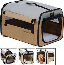 Folding Zippered Lightweight Easy Folding Travel Pet Dog Crate