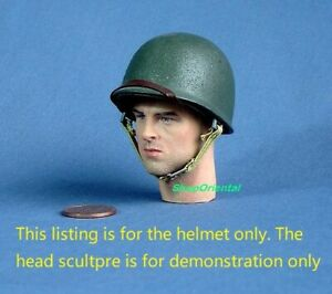 1:6 Scale Action Figure DRAGON WW2 US ARMY INFANTRY MILITARY M-1 M1 HELMET M1_P