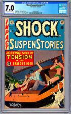 SHOCK SUSPENSTORIES #11 CGC 7.0 JOHNNY CRAIG BILL GAINES WALLY WOOD ART EC 1953