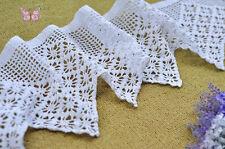 """Vintage hand crochet white cotton lace trim DIY Curtain 20X100CM design B 8""""WIDE"""