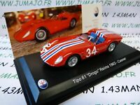 MAS2 voiture 1/43 LEO models MASERATI collection TIPO 61 Drogo Reims 1963 Casner