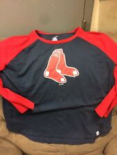 Womens Red Sox Majestic 3/4 Sleeve Size 1X Baseball MLB