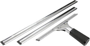 Complete Window Cleaning Squeegee Handle and Channels Set