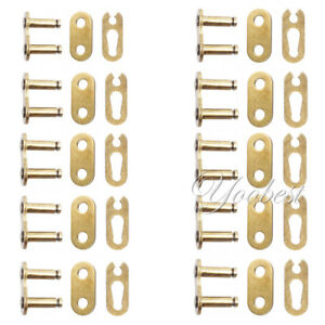 10pcs Gold 420 Chain Repair Connecting Master Split Link 50cc-125cc Motorcycle