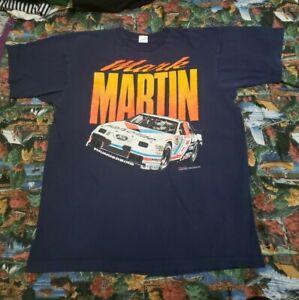 Vintage 90s Mark Martin Nascar Winston Racing Valvoline Thunderbird Shirt XL