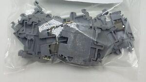 Entrelec 5118 Gray Terminal Blocks Lot of 8  #8480