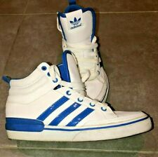 ADIDAS NIZZA RETRO SHINY FAUX LEATHER HI TOP BASEBALL BOOTS TRAINERS SIZE UK 4