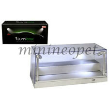 ILLUMIBOX 10002 CLEAR DISPLAY SHOW CASE FOR 1/24 & 1/64 w LED LIGHTS SILVER BASE
