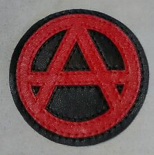 Anarchy Leather Patch applique vest jacket  backpack