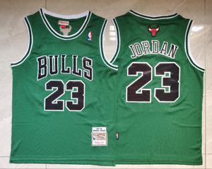 Michael Jordan 23# Chicago Bulls 97-98 Hardwood Classics Swingman Jersey Gree