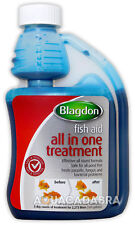 BLAGDON ALL-IN-ONE 250ml ALL-ROUND TREATMENT PARASITE FUNGUS BACTERIA FISH KOI