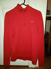 Kids Unisex Vineyard Vines Quarter Zip Pullover Shirt Boys Size XL Red