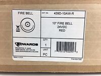 """(NEW) EDWARDS 439D-10AW-R - FIRE ALARM BELL 10"""" - 24VDC (RED)"""