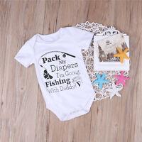 Adorable Infant Baby Girls Cotton Romper Jumpsuit Bodysuit Sunsuit Clothes 0-24M