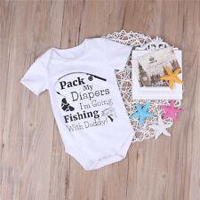 One-pieces Infant Baby Boy Girl Fishing Romper Jumpsuit Bodysuit Outfits Sunsuit