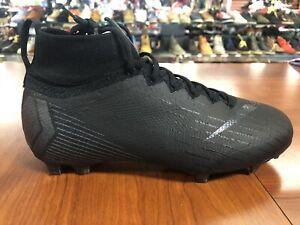 Nike Jr Mercurial Superfly VI Elite FG Soccer Cleats Black Size 6Y AH7340-001