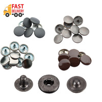 15mm S Spring Press Studs with Color Caps 4 Parts Set Buttons for Clothes Craft