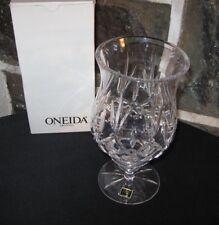 Oneida! Hurricane candle set Fine Crystal orig box Gift quality free ship!