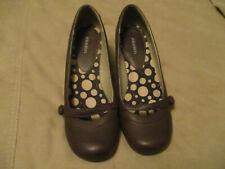 "Vintage Xhilaration Women's Shoes Rich Brown Pumps 2"" Heels Faux Leather 9 1/2"