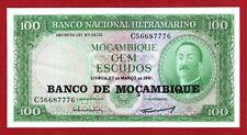 MOZAMBIQUE 100 ESCUDOS   1961 CRISP UNCIRCULATED BANKNOTE