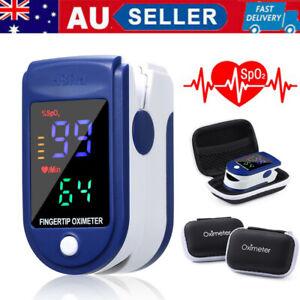 Fingertip Pulse Oximeter Oxygen Saturation Meter SPO2 PR Blood Monitor+Carry Bag