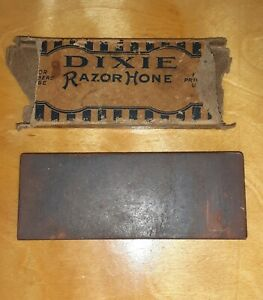 Antique Vtg Dixie Straight Razor Hone Sharpening Stone