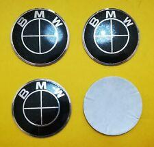 4 Coprimozzo Adesivi Logo BMW 65mm Serie 1 2 3 5 6 7 M Z X Borchie Fregi Cerchi