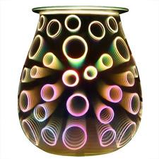 COOSA 3D Circle Pattern Electric Oil Warmer, Beautiful Glass Wax Tart Burner