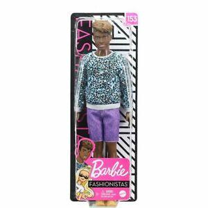 Barbie Fashionistas Ken 153 - Animal-Print Shirt. Brand New Boxed Doll, NRFB.