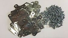 """50 x 0/0"""" FLAT Picture Frame Offset Clips With Screws for Canvas, Mirrors, etc"""