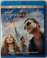 Tomorrowland (Blu-ray+DVD, 2015, 2-Discs) George Clooney, Britt Robertson