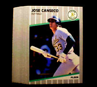 1989 Fleer JOSE CANSECO ~ 20 CARD LOT ~ ONE TIME OAKLAND A's 40/40 SUPER STAR