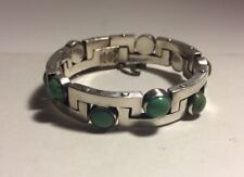 Antonio Pineda Vintage Mexican Sterling Silver & Turquoise Modernist Bracelet