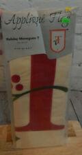 "Evergreen 28"" x 44"" Applique Flag Holiday Monogram Flag-T"