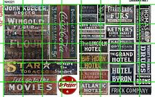 NH021 DAVE'S DECALS 1/2 Set N SCALE GHOST SIGNS VINTAGE BUSINESS OCCUPATION ADS