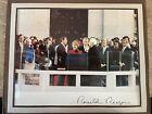President Ronald Reagan 1981 Inaugural Photo w/ Facsimile Autograph FREE SHIP