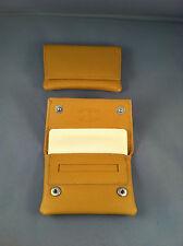 SMALL / MINIATURE GBD Leather Tobacco Cigarette Rolling Pouch - Tan