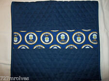 Handmade Air Force Theme & Navy Quilted - Walker Organizer Pouch Bag