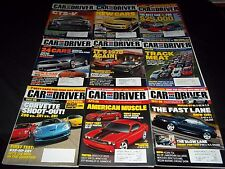 2008 CAR AND DRIVER MAGAZINE LOT OF 12 ISSUES - NICE AUTOMOBILE COVERS - M 640