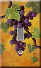 Red Wine Grapes Single Light Switch Plate Cover