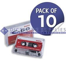 C60 Standard Dictation Cassettes (Pack of 10) BNIB
